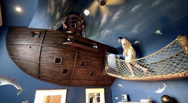 Çocuk odası konseptleri korsan gemisi