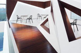 3D Geometrik Cafe Konsepti
