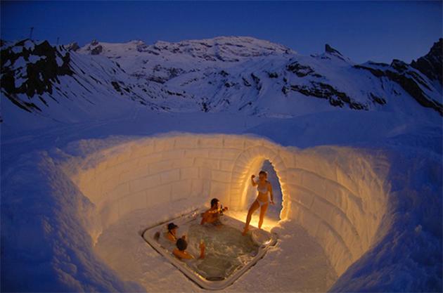 Eskimo Kulübe konseptli otel 11