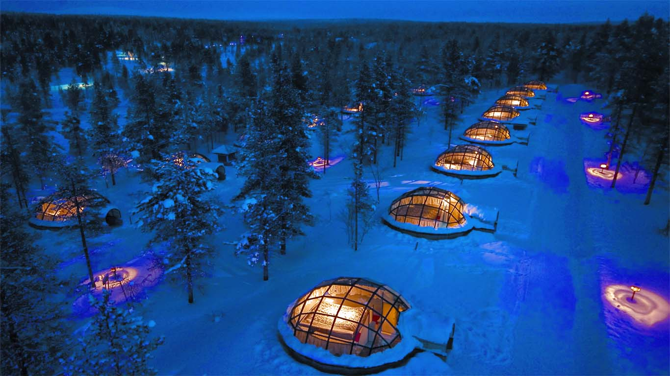 Eskimo Kulübe konseptli otel