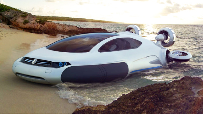 Yarı otomobil yarı hovercraft 1