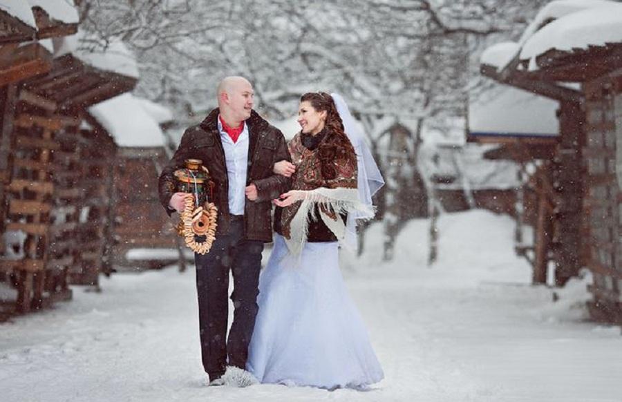 karlı düğün fotoğrafları